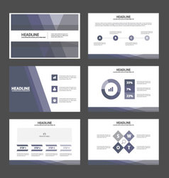 Purple presentation templates Infographic elements vector image