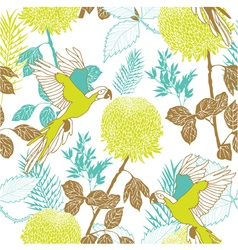 Retro Parakeet Pattern vector image