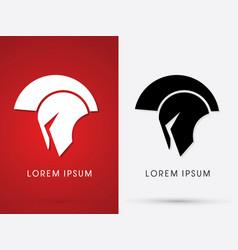 Roman or greek helmet spartan vector