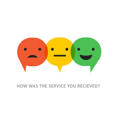 Satisfaction survey with speech bubbles vector