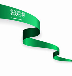 Saudi arabian flag wavy abstract background vector