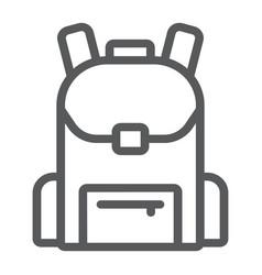 school bag line icon school and education vector image