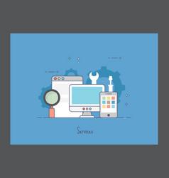 Services icon vector