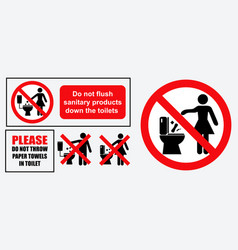 set of sanitary sign vector image