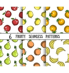 SetFruityPatterns vector image