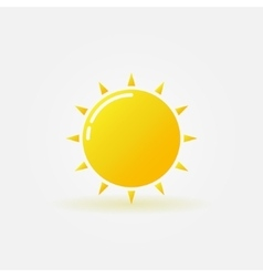 Shiny sun logo vector image