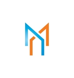 Sign of the letter M and X vector image vector image