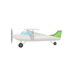 Small vintage plane light aircraft vector