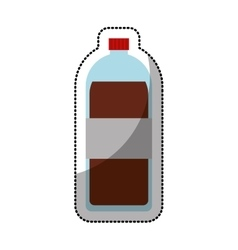 soda bottle isolated icon vector image