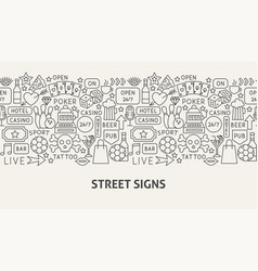 street signs banner concept vector image