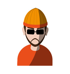 Suspicious looking man with sunglasses criminal vector
