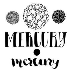The mercury planet vector