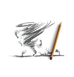 Tornado concept hand drawn isolated vector