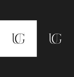 ug logo monogram vector image