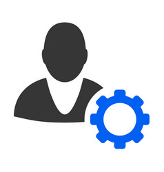 user options cog flat icon vector image