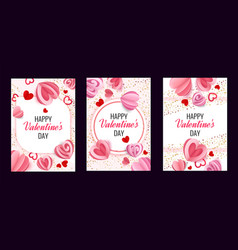 valentine greeting card romantic posters with vector image