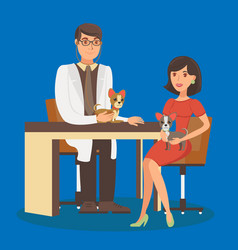 veterinarian appointment flat vector image