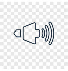 volume concept linear icon isolated on vector image