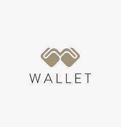 Wallet logo design money billfold payment vector