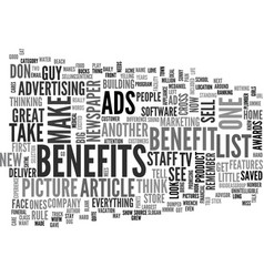 What do your ads say text word cloud concept vector