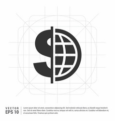 world currency icon vector image