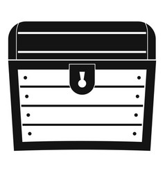 chest icon simple style vector image