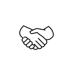 handshake of business partners icon vector image