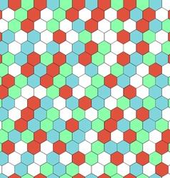 hexagon seamless background vector image