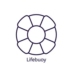 icon of lifebuoy on a white background vector image vector image