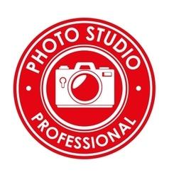 photo studio professional emblem design graphic vector image