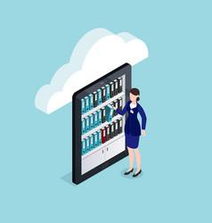 cloud documents storage isometric design vector image
