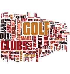 Golf accessories to help you travel text vector