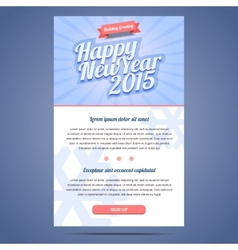 Happy New Year Holiday Greeting email template vector image vector image