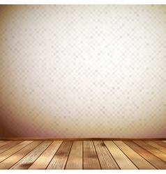 Interior with wooden floor and wall EPS 10 vector image