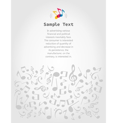Musical frame5 vector image vector image