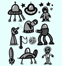space icon set vector image vector image
