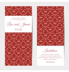 vertical wedding invitations vector image vector image