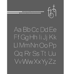 Elegant light font letters design vector image