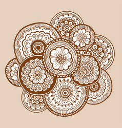 ethnic henna mehndi ornament indian style vector image vector image