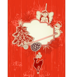 scrap booking kit for christmas vector image