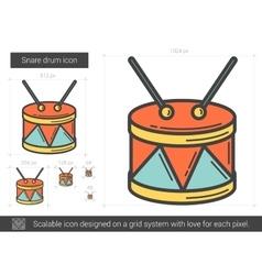 Snare drum line icon vector image