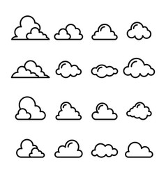 cloud icon in thin line style vector image vector image