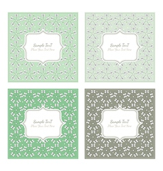 Floral pattern square backgrounds vector image vector image
