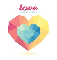 geometric heart Modern Design graphic vector image vector image