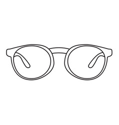 icon with a picture of a frame for glasses a vector image vector image