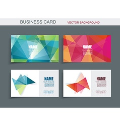 Modern business card template with faceted 3d vector image