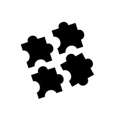 Puzzle game pieces vector