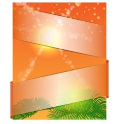 summer banner 1 vector image vector image
