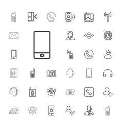 33 contact icons vector