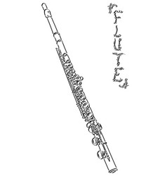 Abstract drawing flute vector